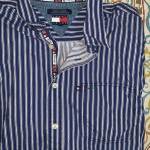 Vintage Tommy Jeans Striped Button-up Shirt
